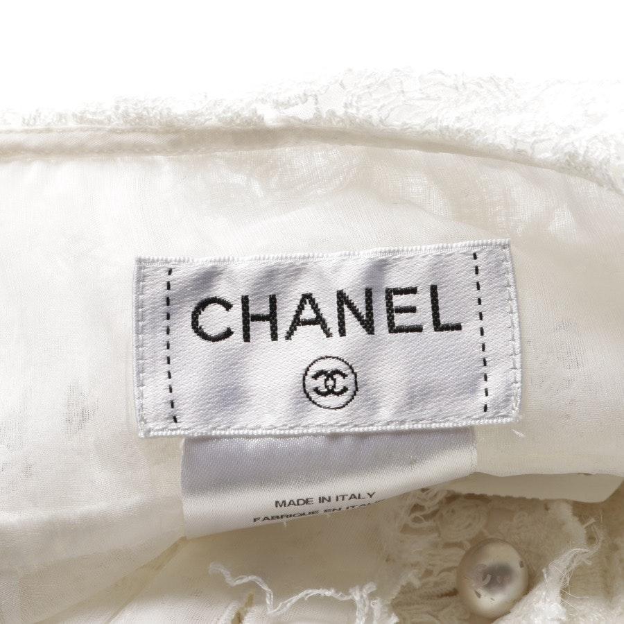 Cocktailkleid von Chanel in Weiß und Pink Gr. 42 FR 44