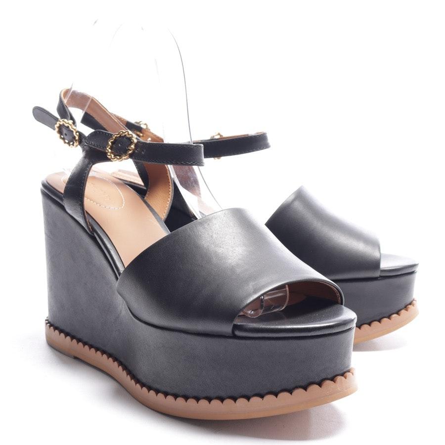 Sandaletten von See by Chloé in Schwarz und Cognac Gr. EUR 41 Neu