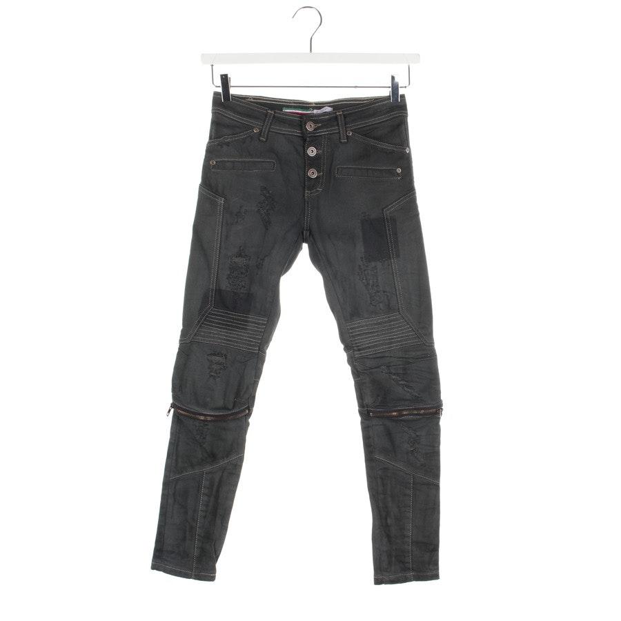 Jeans von Please in Graugrün Gr. XS