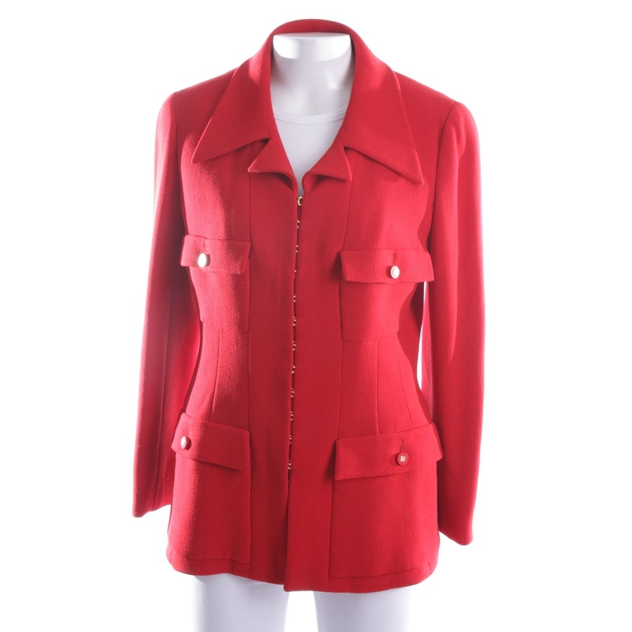Wollblazer von Chanel in Rot Gr. 38 FR 40