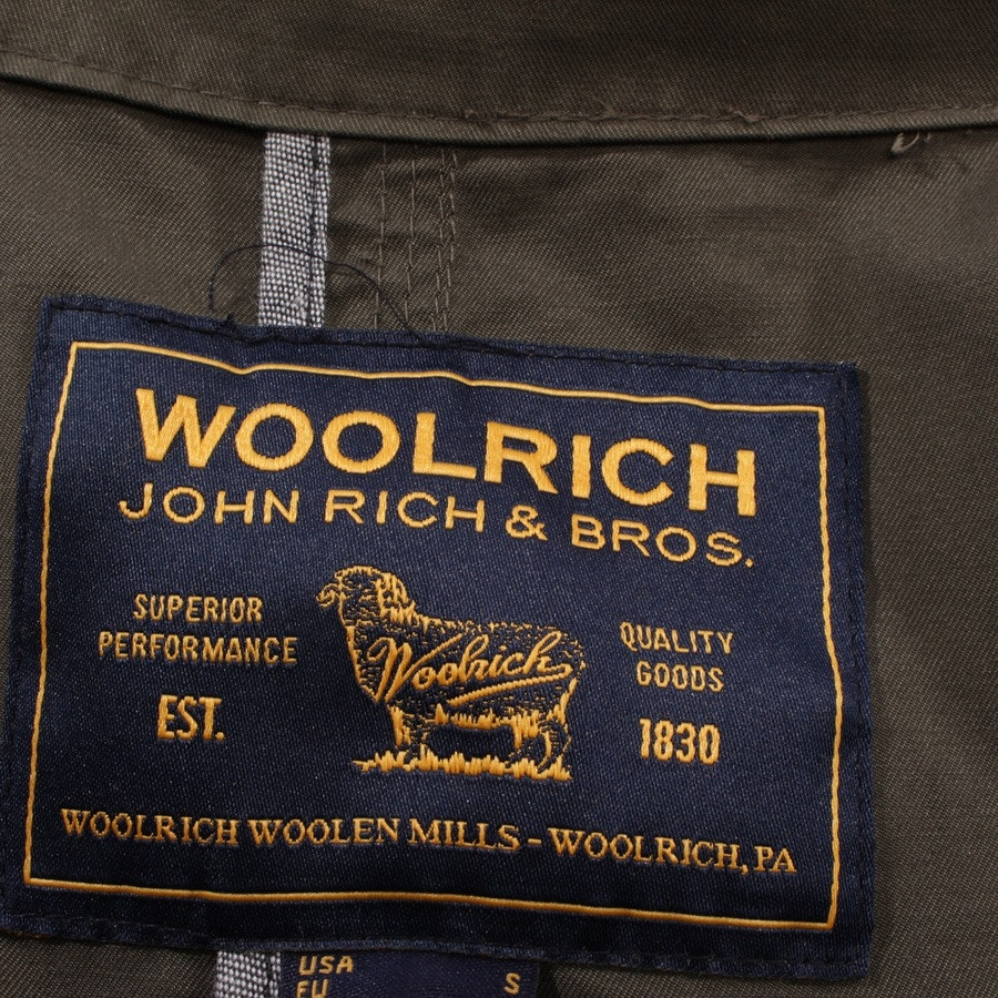 between-seasons jackets from Woolrich in olive green size S