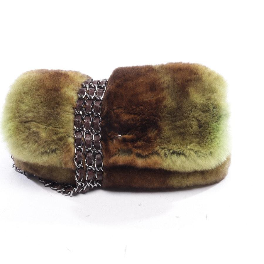 Schultertasche von Chanel in Grün und Braun