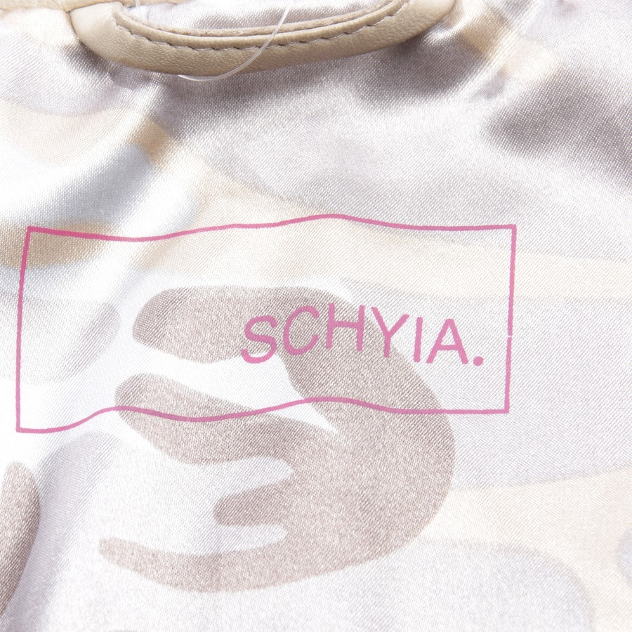 leather jacket from Schyia in beige size 34