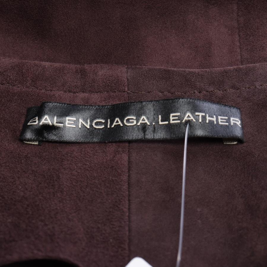 Lederkleid von Balenciaga in Rouge Gr. 38 FR 40