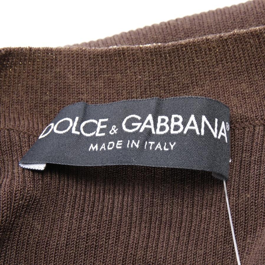 Stricktop von Dolce & Gabbana in Braun und Gold Gr. XS