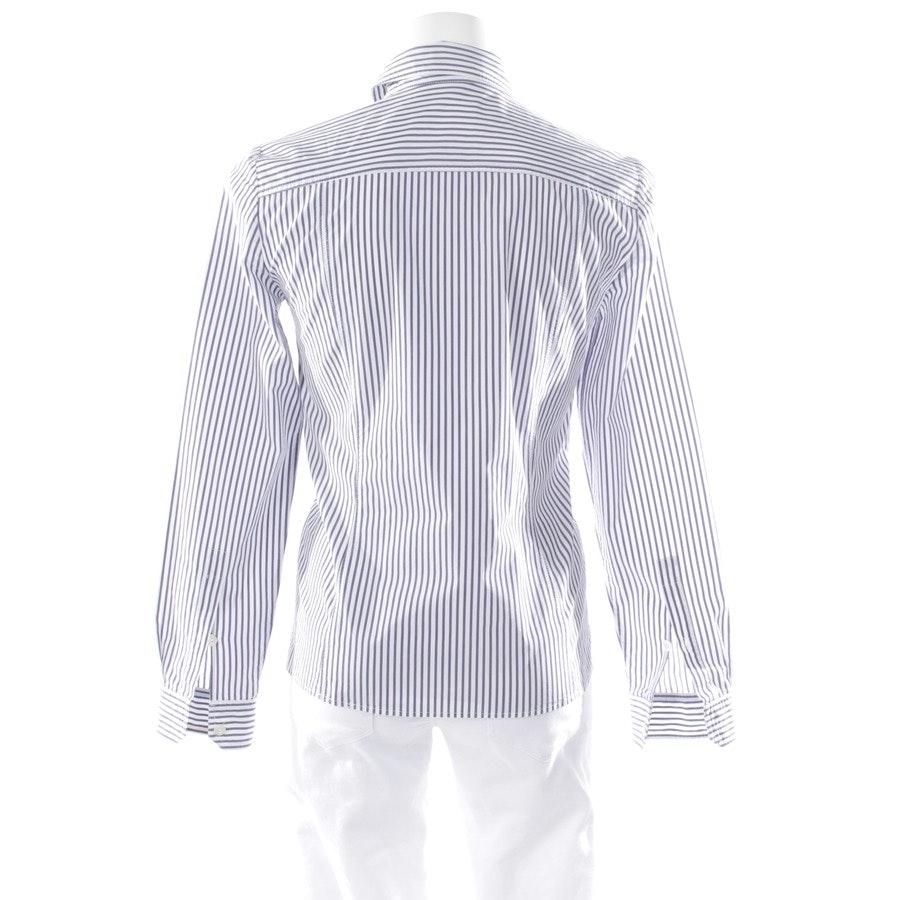 Bluse von Gucci in Blau und Weiß Gr. 34 IT 40 - Lederdetails