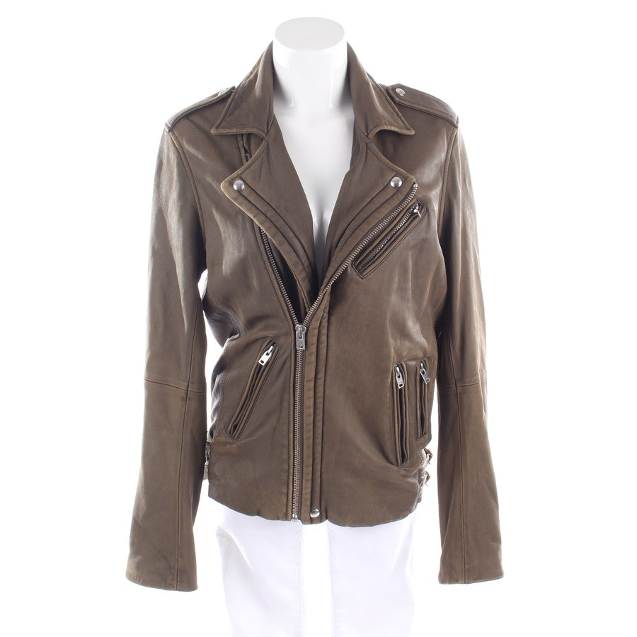 leather jacket from Iro in green brown size L