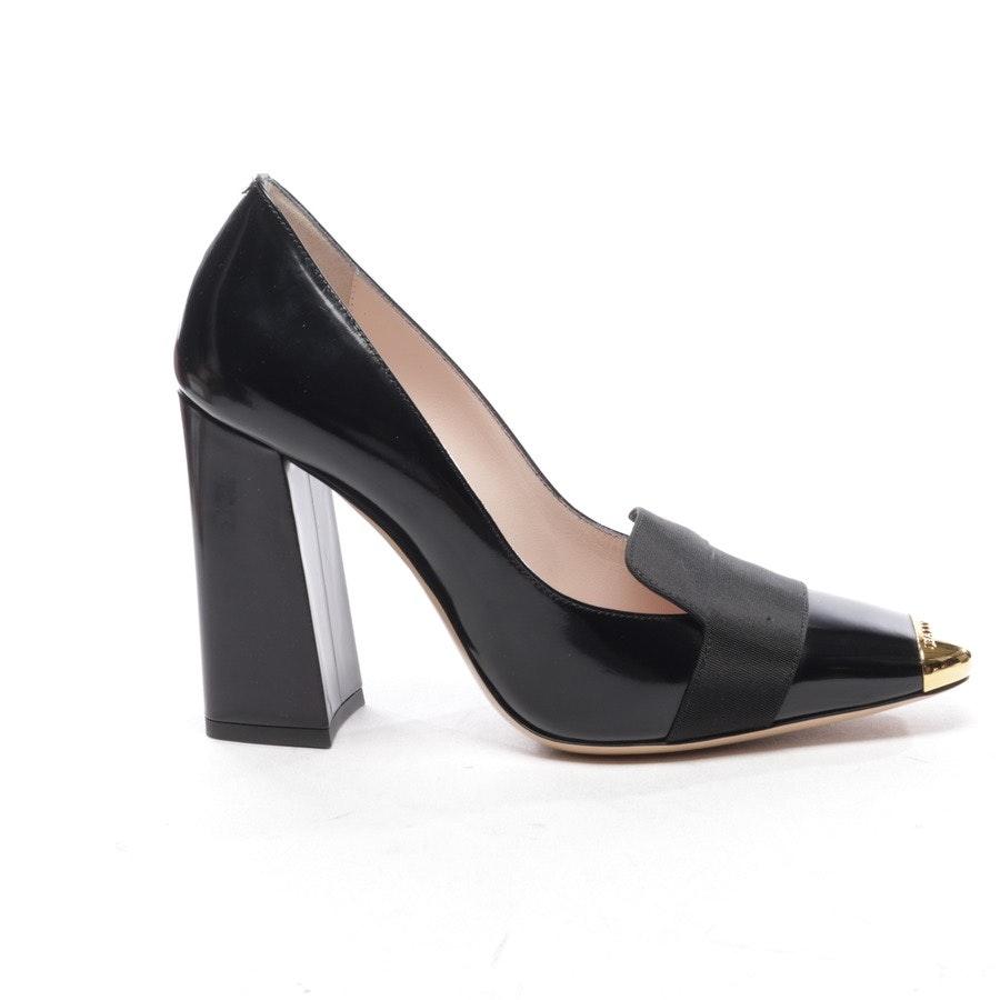 pumps from Bally in black and gold size D 36