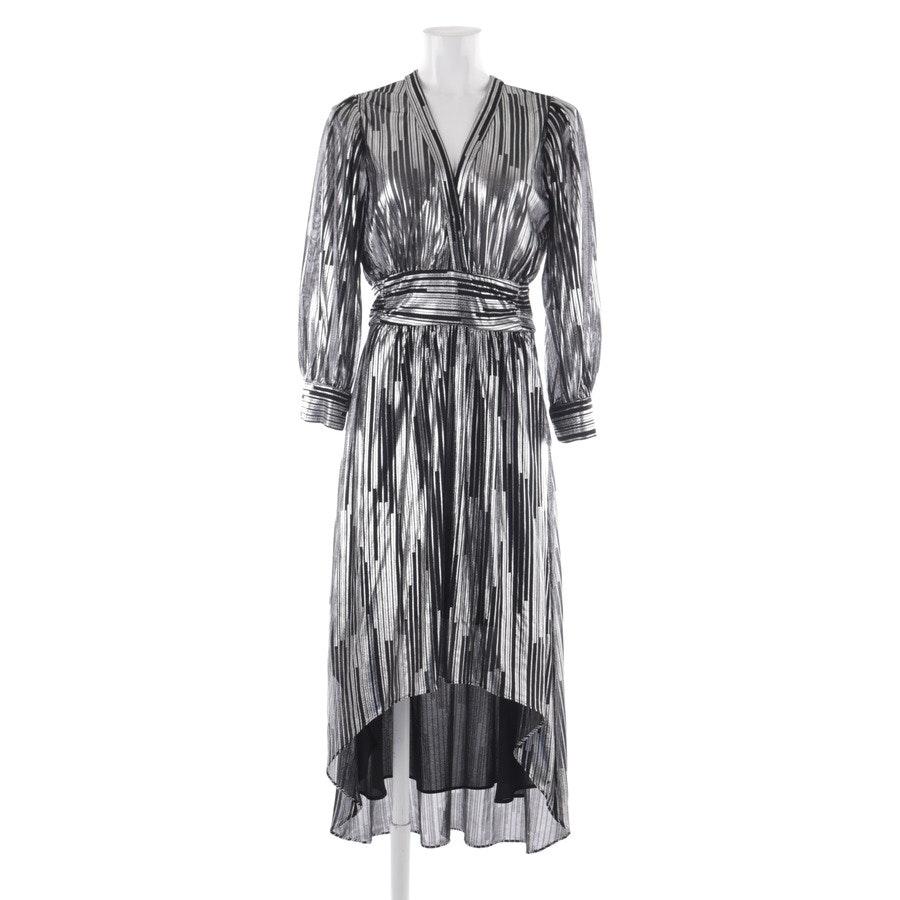 Abendkleid von Iro in Schwarz und Silber Gr. 36 FR 38
