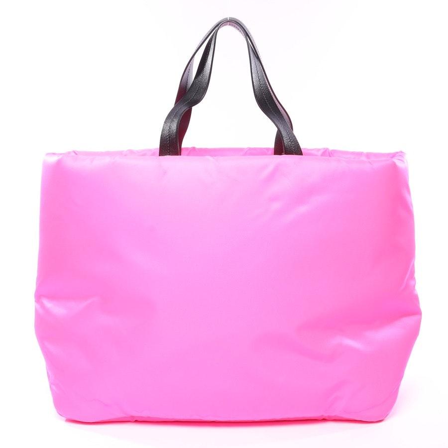 Shopper von Prada in Neon Pink und Schwarz