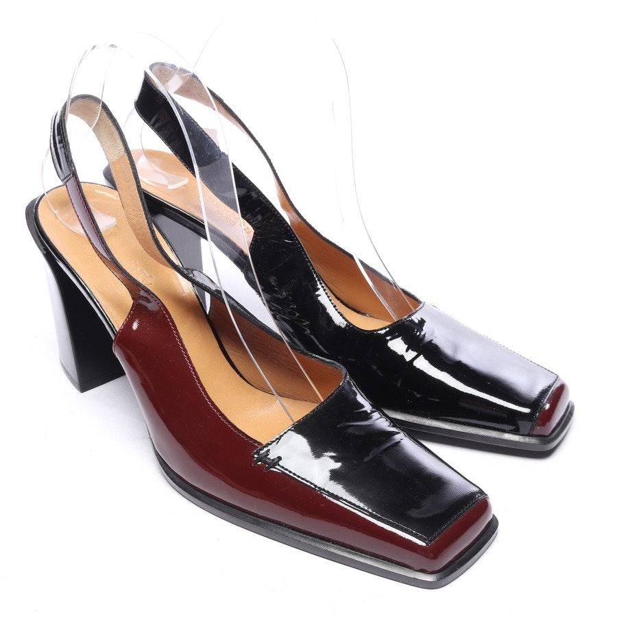 Slingbacks von Hermès in Schwarz und Rot Gr. EUR 39,5