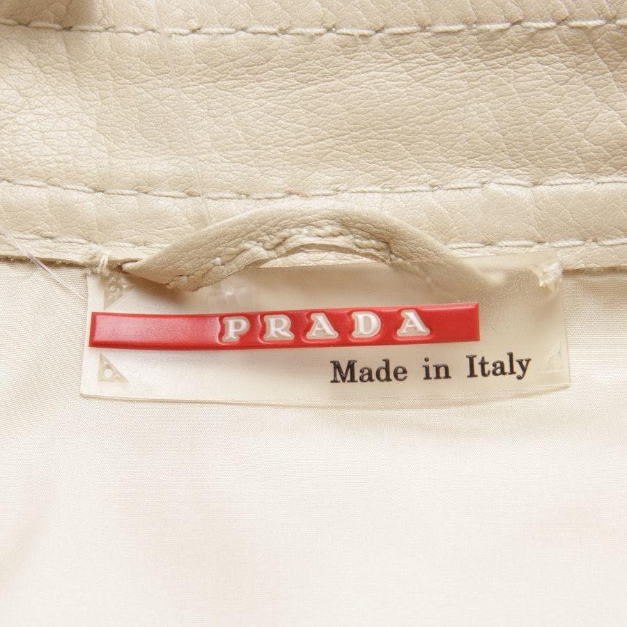 Lederjacke von Prada Linea Rossa in Sand Gr. 34 IT 40