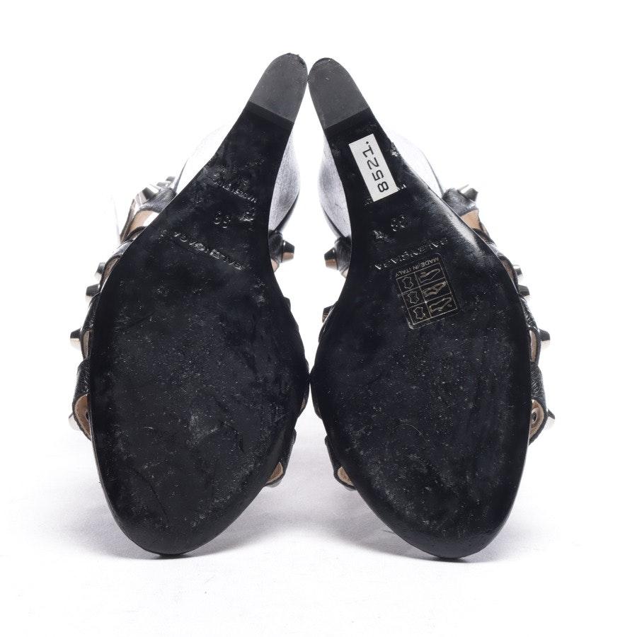 Sandaletten von Balenciaga in Schwarz und Silber Gr. EUR 38