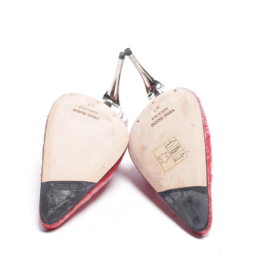 Slingbacks von Dolce & Gabbana in Rot und Silber Gr. EUR 37 Neu