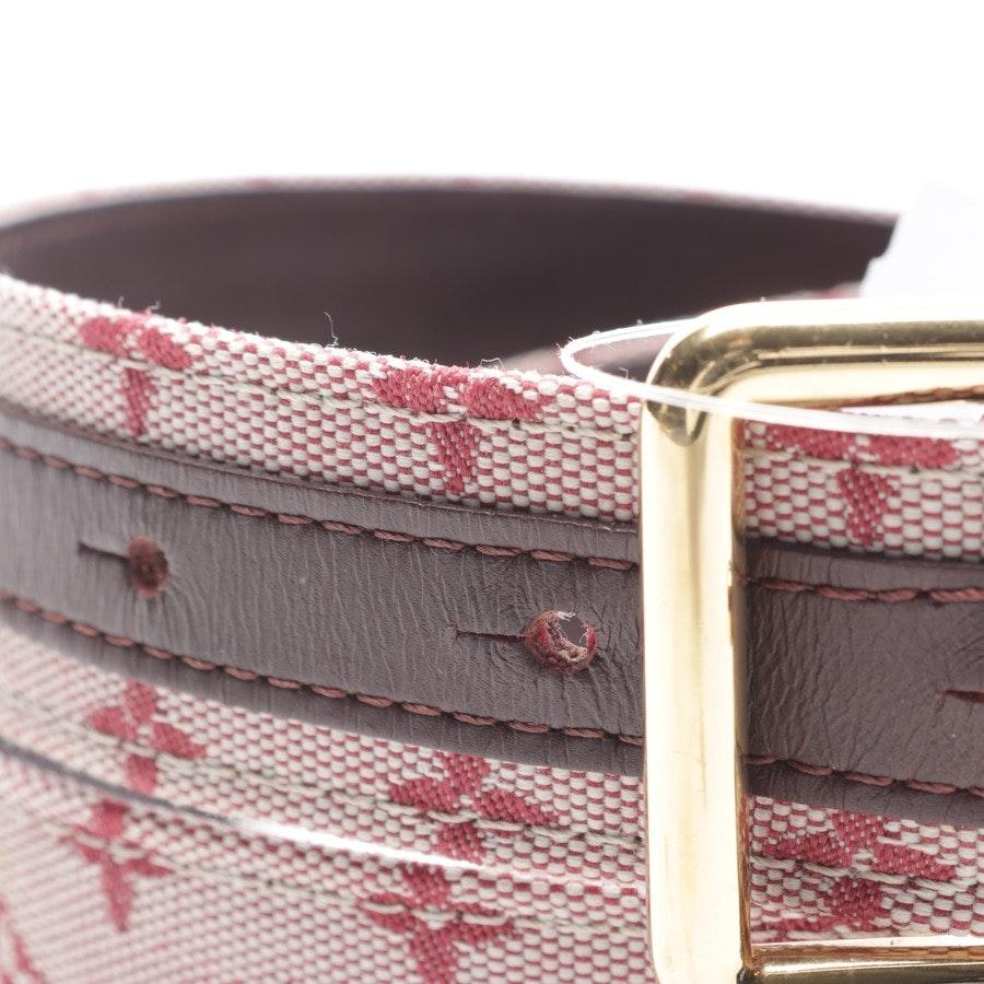 Gürtel von Louis Vuitton in Rosa und dunkelbraun Gr. 80 cm