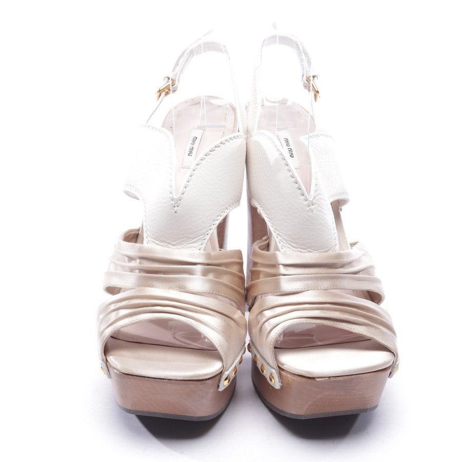 heeled sandals from Miu Miu in cream white size D 40 - new!