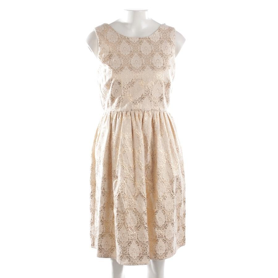 Kleid von Marc Cain in Creme und Gold Gr. 36