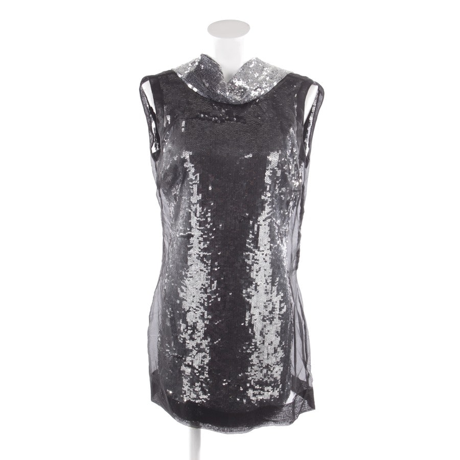 dress from Karen Millen in black and silver size 38 UK 12