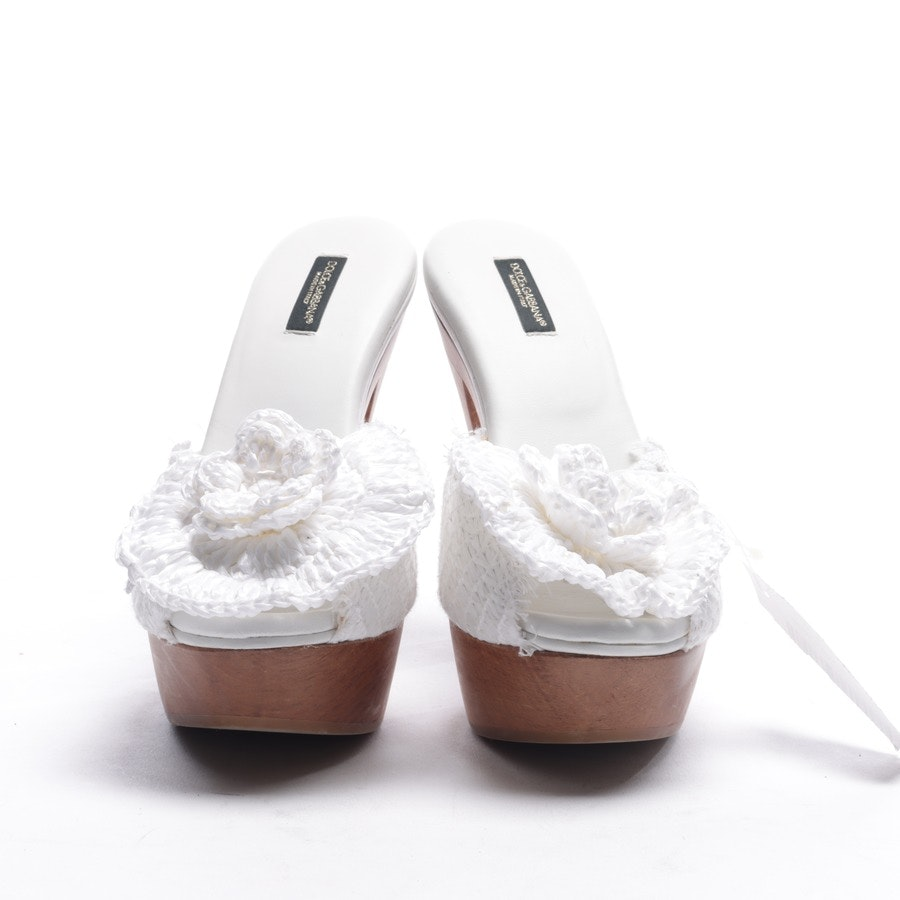 Sandaletten von Dolce & Gabbana in Weiß Gr. EUR 37 Neu