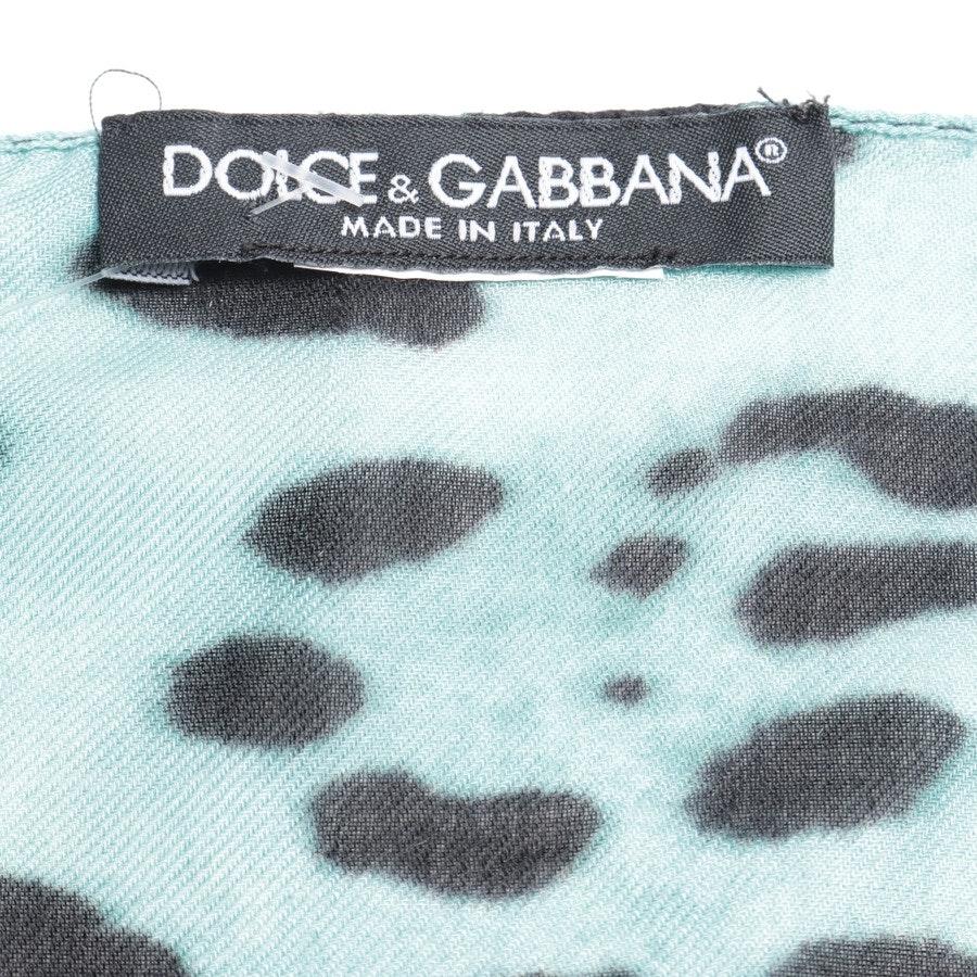 Schal von Dolce & Gabbana in Türkis und Schwarz