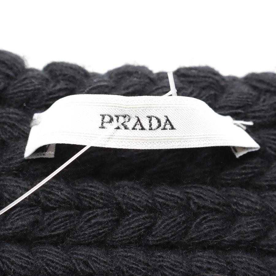 Strickschal von Prada in Schwarz