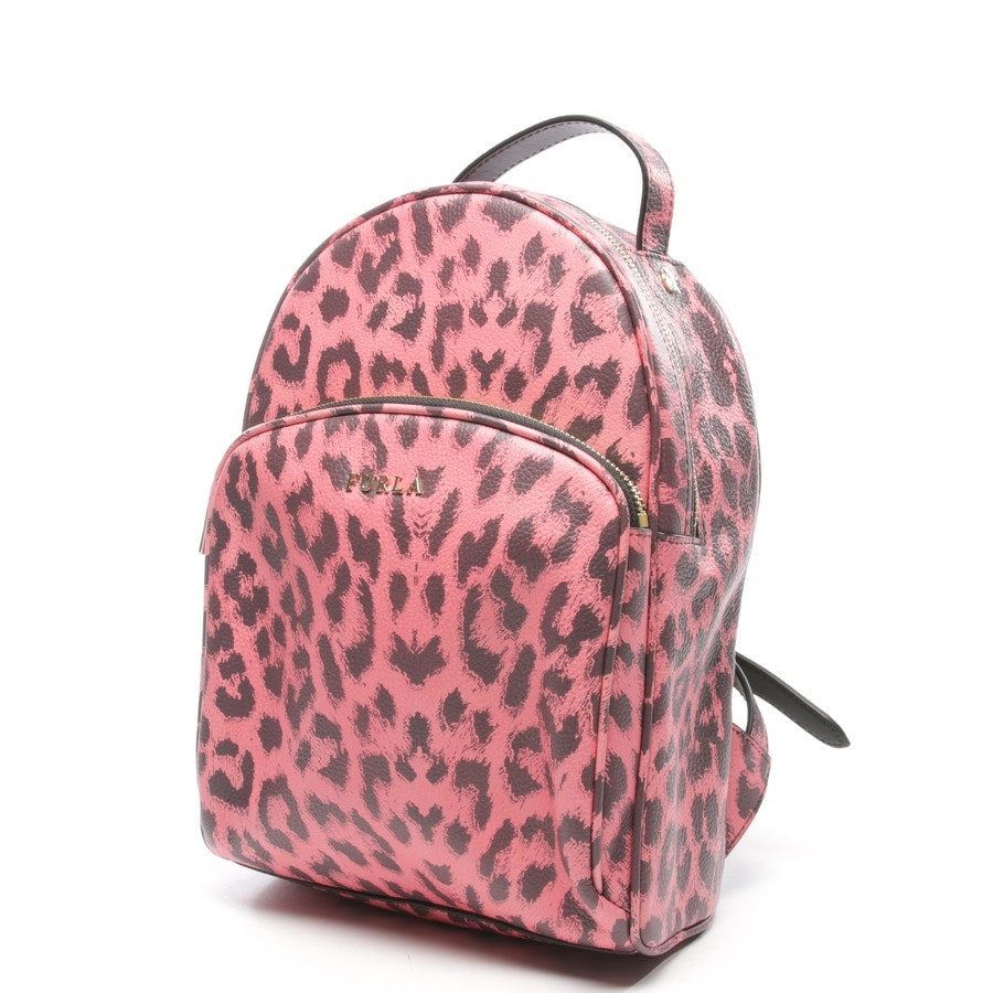backpack from Furla in pink and purple - mini leoprint backpack frida - new