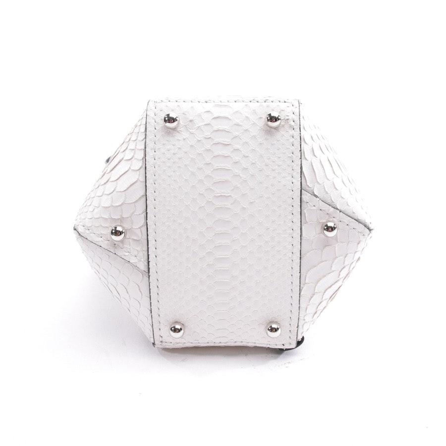 Bucket Bag von Proenza Schouler in Weiß und Schwarz - Hex Mini Whipstitch Python