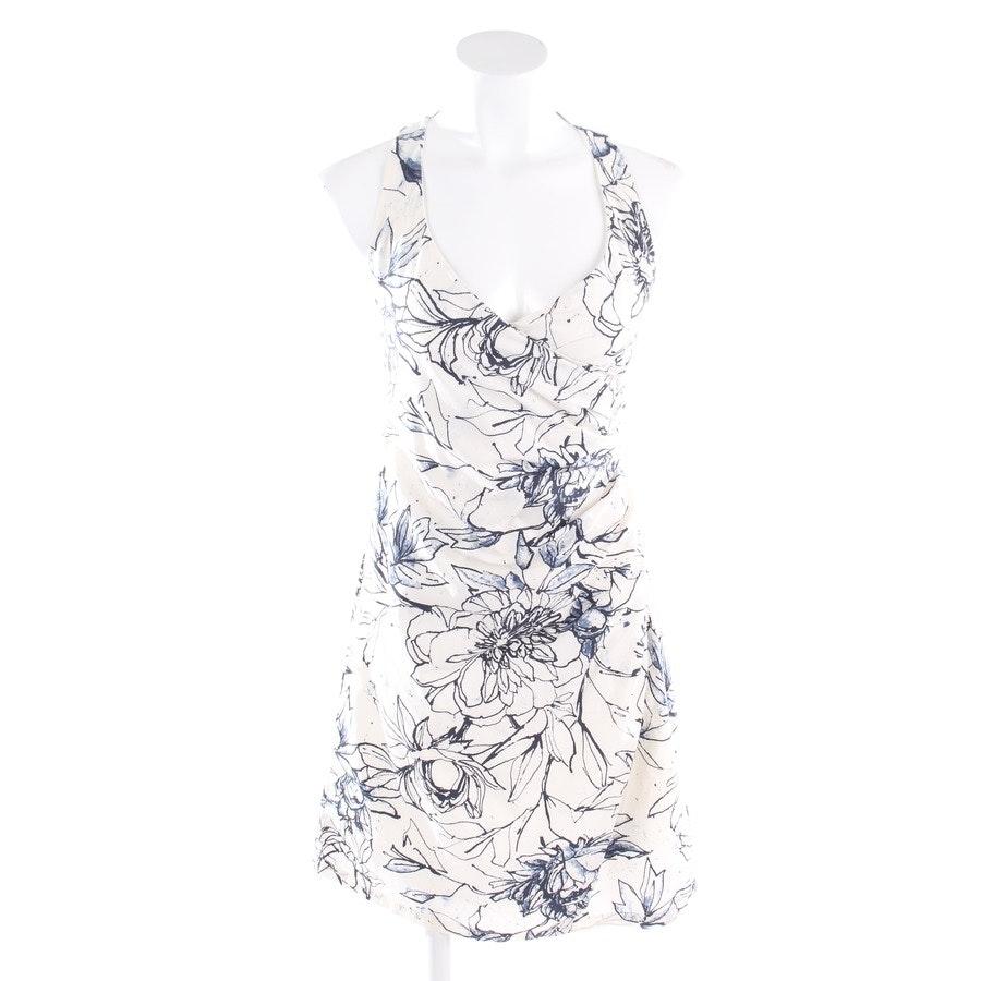 Kleid von René Lezard in Weiß und Blau Gr. 36