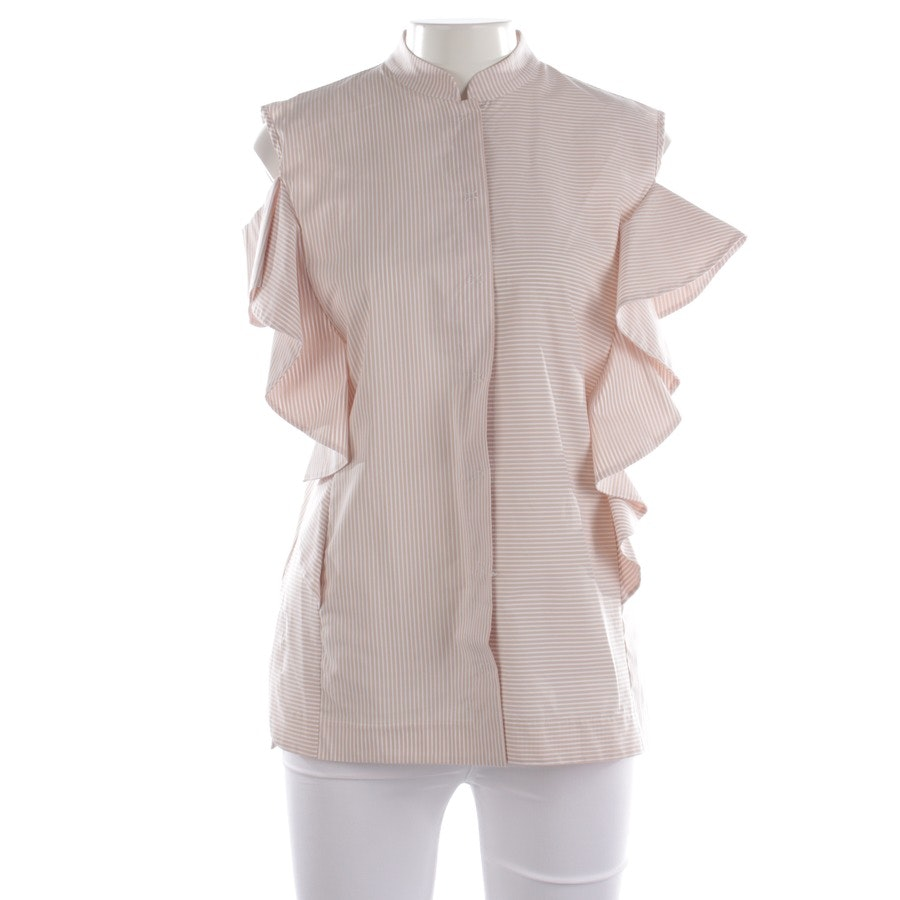 Bluse von D. Exterior in Weiß und Beige Gr. M - NEU mit Etikett