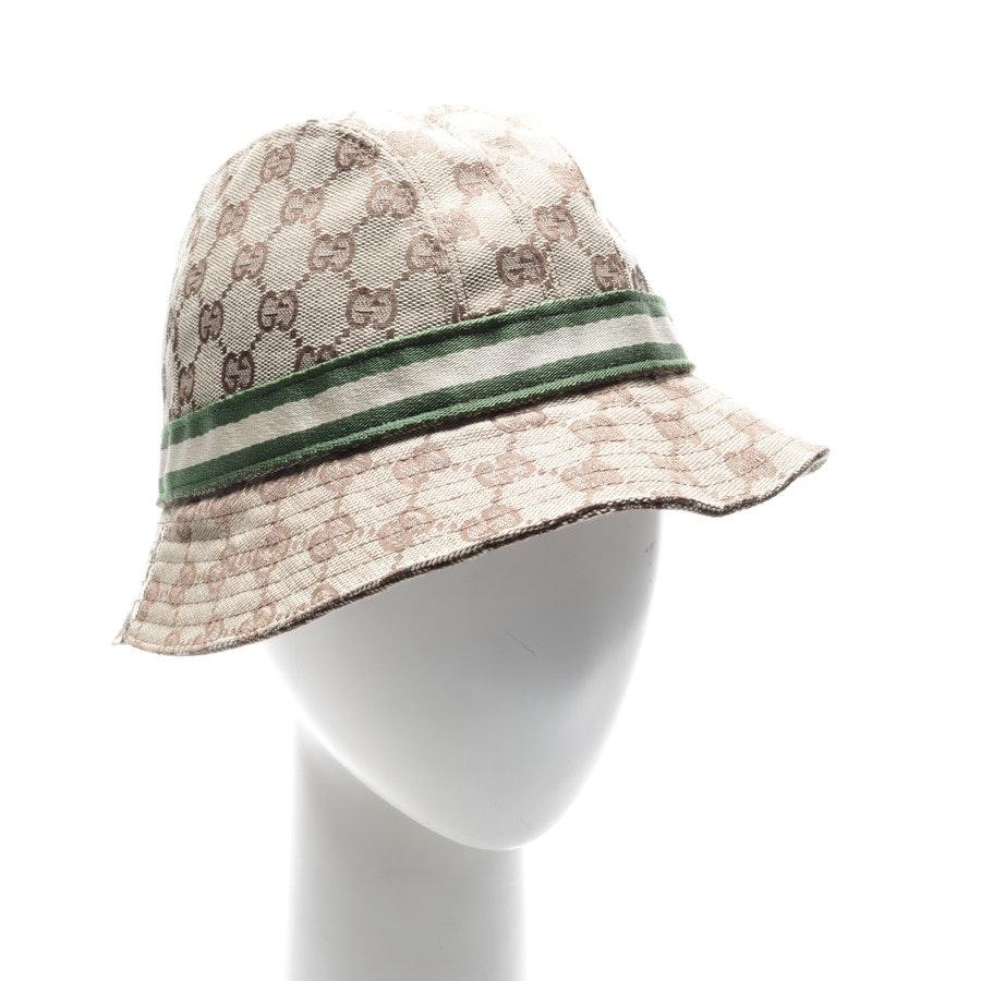 Hut von Gucci in Beige und Braun Gr. L