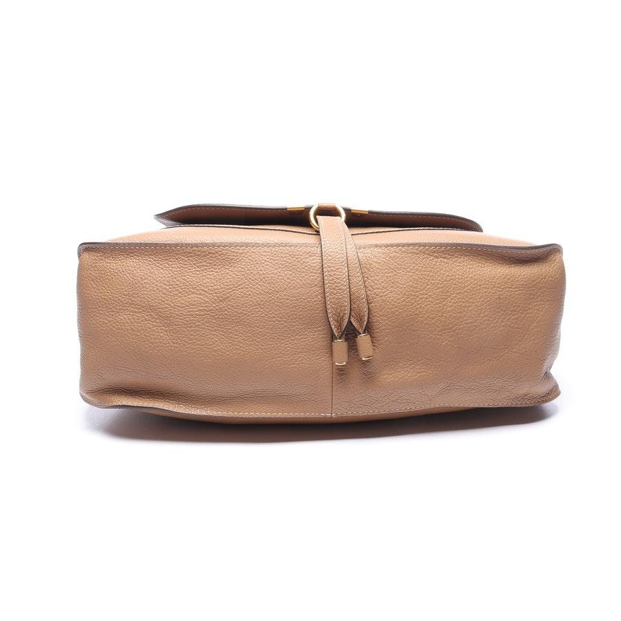 Schultertasche von Chloé in Camel und Gold Marcie Hobo Bag Large