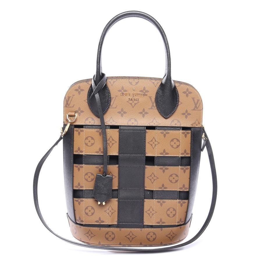 Handtasche von Louis Vuitton in Braun und Schwarz Tressage Tote Reverse Monogram Canvas