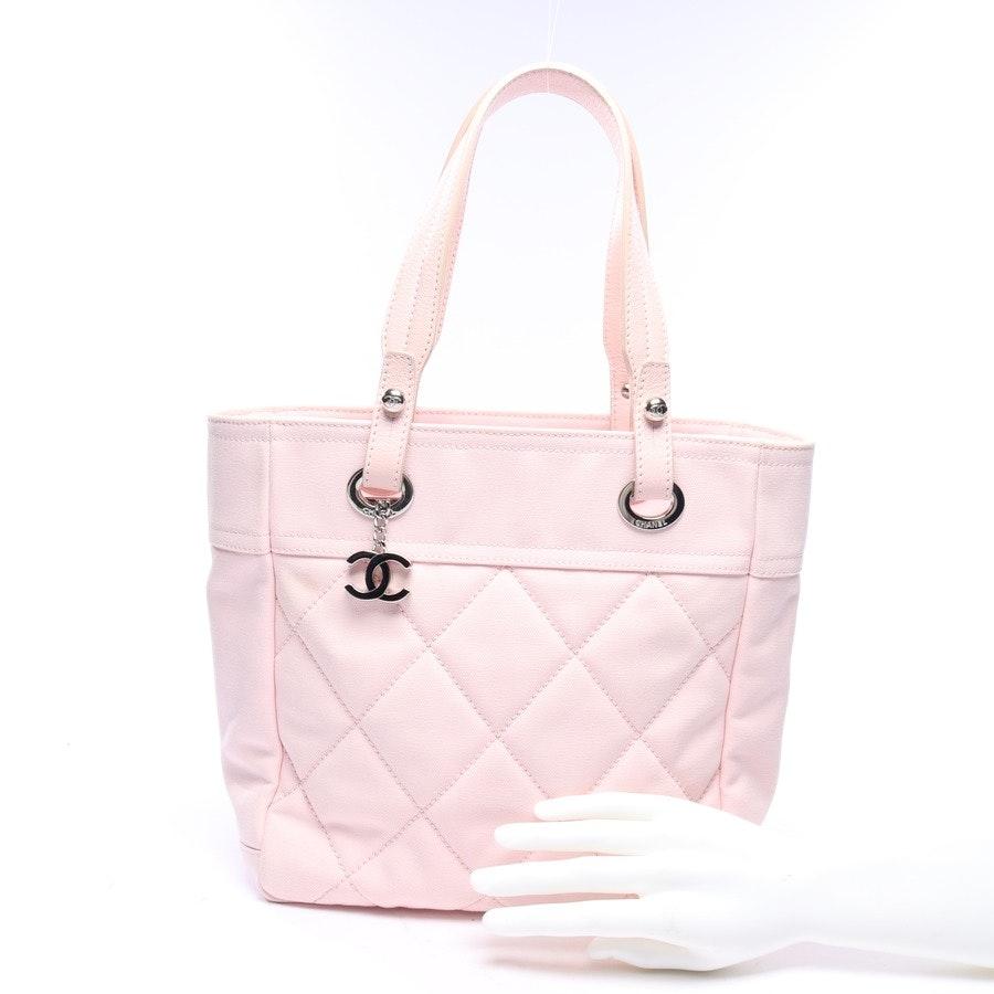Schultertasche von Chanel in Rosa Canvas Zip Tote