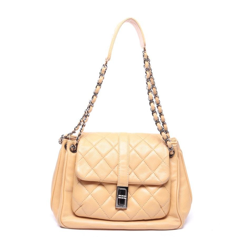 shoulder / messenger bag from Chanel in Tan Vintage Mademoiselle Front Pocket Bag