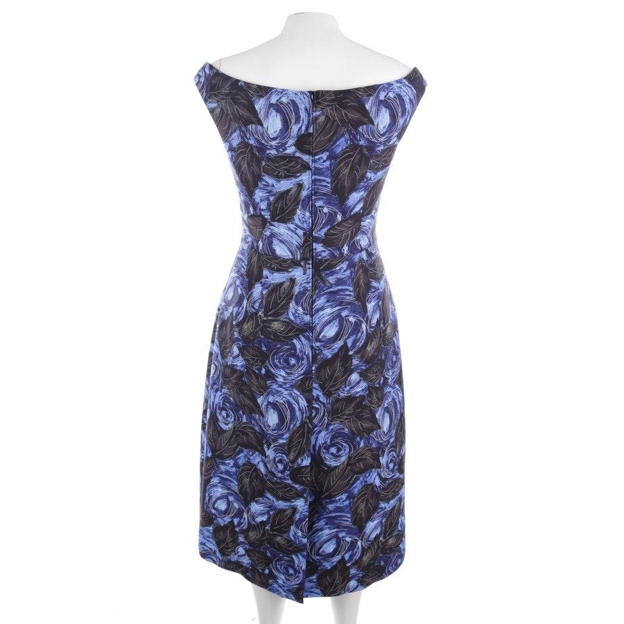 Kleid von Prada in Blau und Schwarz Gr. 38 IT 44