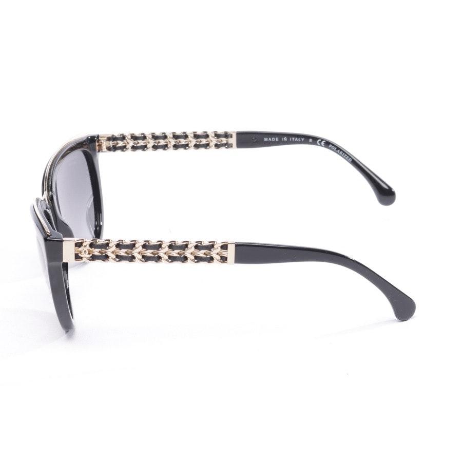 Sonnenbrille von Chanel in Schwarz und Gold 5361-Q
