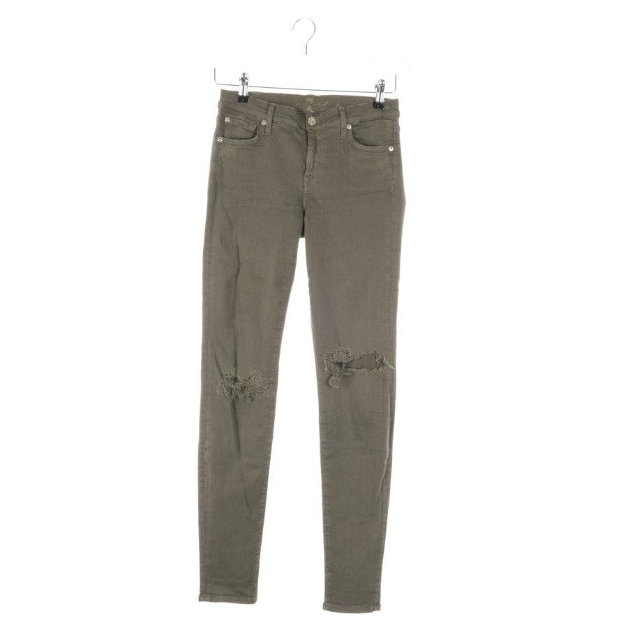 Jeans von 7 for all mankind in Olivgrün Gr. W27