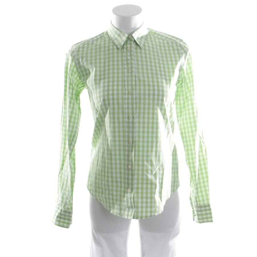 Bluse von Gant in Grün und Weiß Gr. 36
