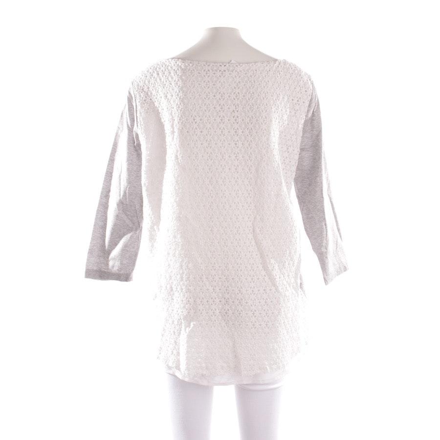 Shirt von Fabiana Filippi in Grau meliert und Weiß Gr. M