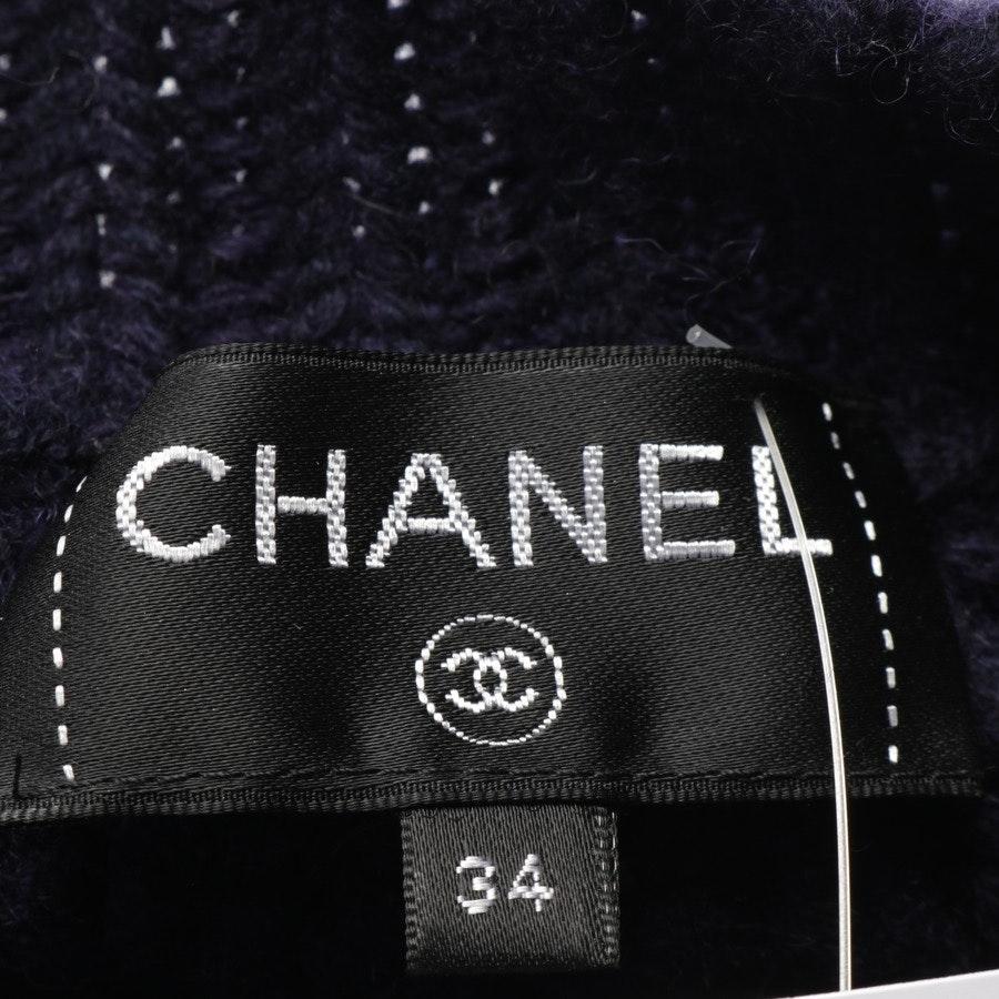 Strickpullover von Chanel in Dunkelblau und Lila Gr. 32 FR 34