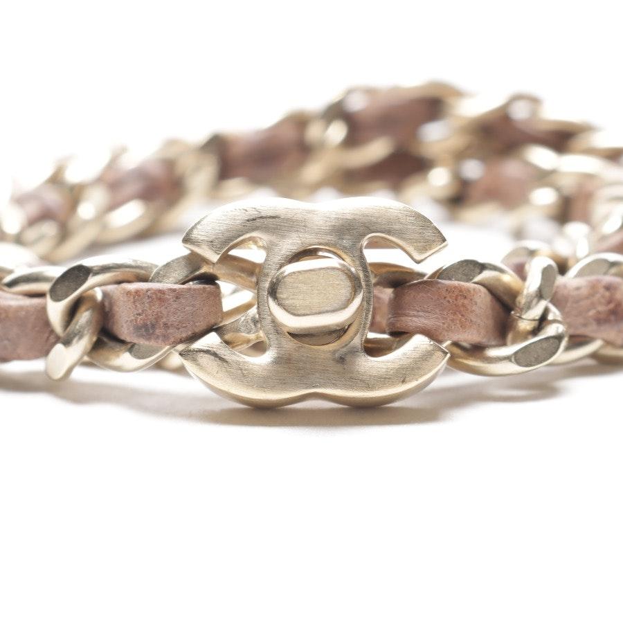 Armband von Chanel in Braun und Gold