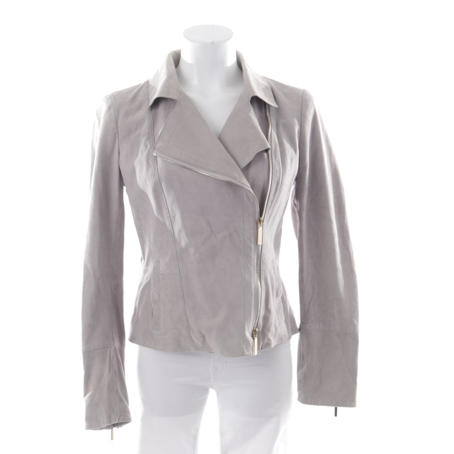 leather jacket from Hugo Boss Black Label in light grey size 38