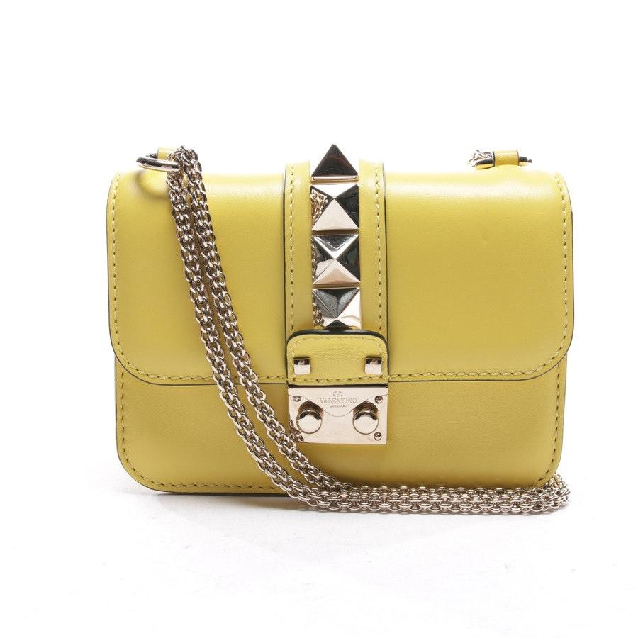 Abendtasche von Valentino in Gelb - Lock Small
