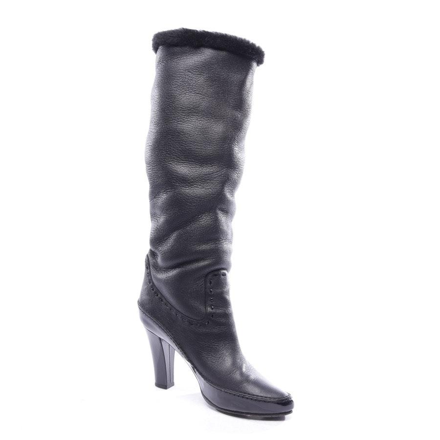 Stiefel von Bottega Veneta in Schwarz Gr. D 38,5 - Lammfell
