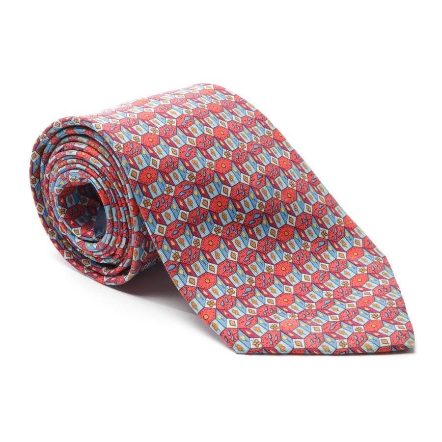 Seidenkrawatte von Hermès in Rot und Mehrfarbig