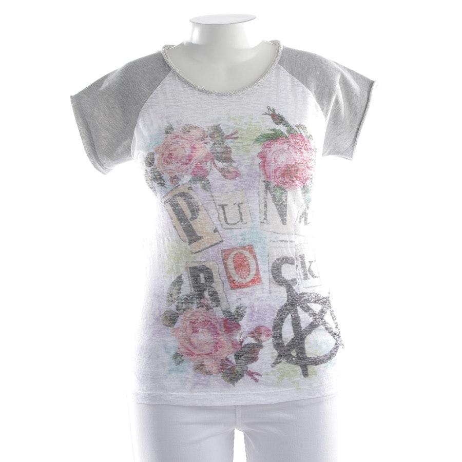 T-Shirt von Please in Weiß und Multicolor Gr. XL