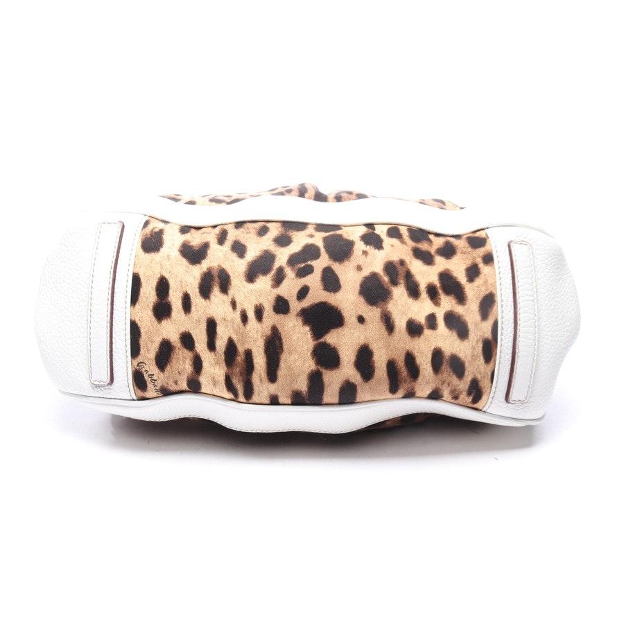 Schultertasche von Dolce & Gabbana in Weiß und Mehrfarbig
