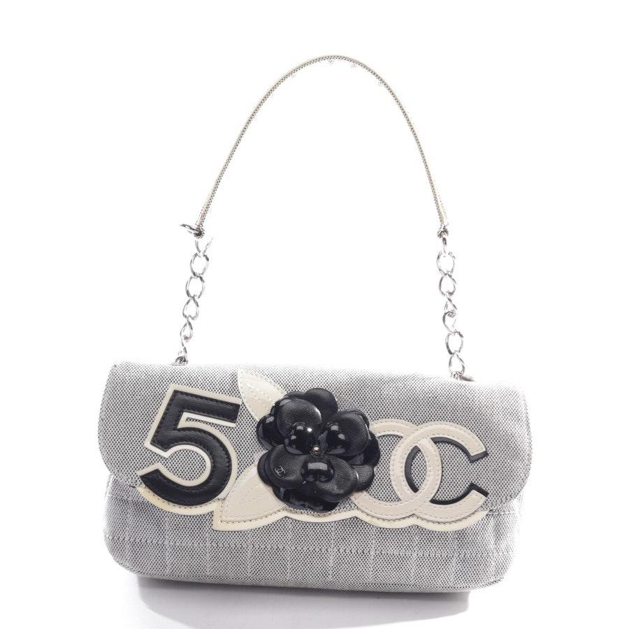 Schultertasche von Chanel in Altweiß und Schwarz 10622360