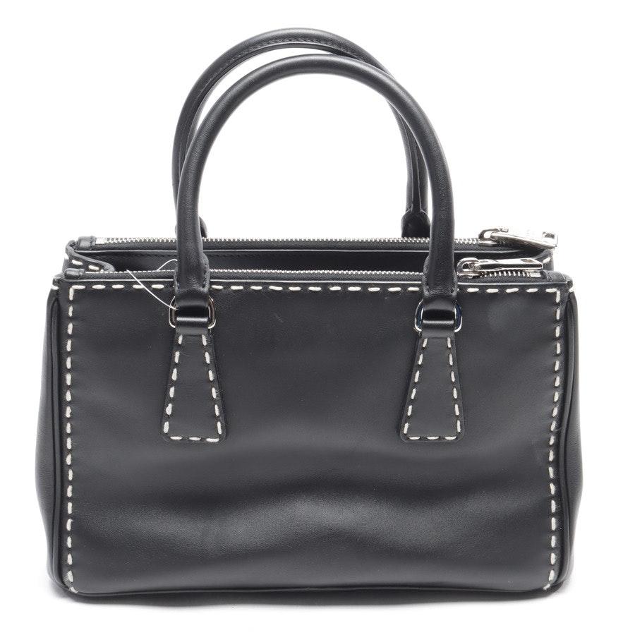Handtasche von Prada in Schwarz und Weiß City Calf