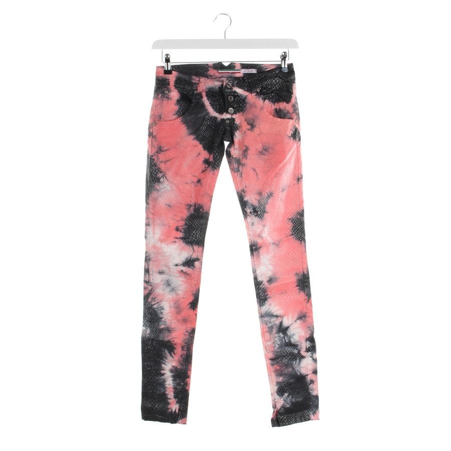Jeans von Please in Schwarz und pink Gr. XS